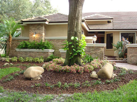 Mulch bark shredded rock solid stone center for Shell driveway calculator